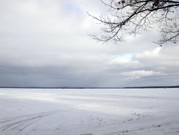 image of Higgins Lake late Jan. 03