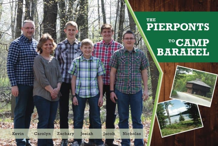 Pierpont Family to Camp Barakel